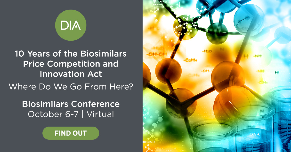 DIA Advertisement: Biosimilars Conference